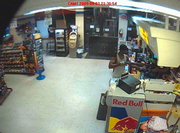 Lawrence police have released security camera images of the armed robbery at the Conoco, 2447 W. Sixth St., Monday night.