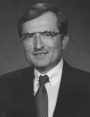 Gene A. Budig, 1981-94: An experienced university administrator as well as a major general in the Air National Guard, Budig helped lead KU through Campaign Kansas, a five-year fund drive that brought in $265.3 million in gifts and commitments. Annual giving for KU's benefit rose from about $12 million to $34.6 million. He also led the effort to rebuild Hoch Auditorium after a devastating fire. He resigned to become president of major league baseball's American League and later taught at Princeton University.