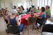 The communal meal brings together Commons residents, friends and family, and prospective residents.