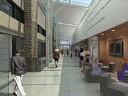A rendering shows some of the renovations planned for Kansas University's Allen Fieldhouse, as designed by Gould Evans Associates.