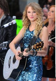 Country star Taylor Swift performs in May for NBCs Today show at Rockefeller Center, New York City.