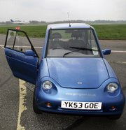 The Reva G-Wiz, an emission-free, carbon-neutral electric car, is shown in Cranleigh, England, in this April 24, 2006, file photo. Analysts expect global production of purely electric cars to expand rapidly in coming years. IHS Global Insight forecast that production will grow from nearly 9,500 this year to more than 58,000 in 2011.