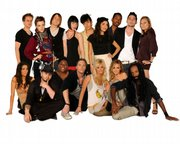 Project Runway's season 6 designers. Fish is in the back row, second from the left.