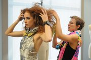A still from Project Runway season 6 featuring Ari Fish.