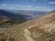 A view from the 12,600-foot Hope Pass, the high point of the Leadville Trail 100-mile race in Colorado.