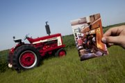 Wakeman displays a photograph of the tractor in its original state when purchased.