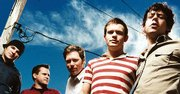 The Get Up Kids in 2005. From left: James Dewees, Matt Pryor, Jim Suptic, Rob Pope and Ryan Pope.