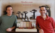 Tim McCollum, left, and Brett Beach, a Lawrence High School graduate, co-founded Madécasse.