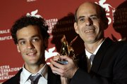 "Actor Yoav Donat, left, and director Samuel Maoz with the Golden Lion Best Film Award for ""Lebanon"" during the winners' photo call at the 66th edition of the Venice Film Festival in Venice, Italy, which was Saturday."