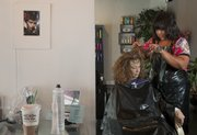 Connie Loebsack, of Tonganoxie, has her hair colored every four weeks to hide gray roots. Hairstylist Cora Carey is the owner of Head Rush Studio, 622 W. 12th St., and says most of her clientele are women ages 40 to 70.