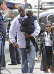 Plaxico Burress arrives at Manhattan criminal court for his sentencing Tuesday in New York.
