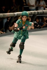 """Ellen Page stars as an indie-rock loving misfit who finds a way of dealing with her small-town Texas misery after she discovers a roller derby league iin """"Whip It."""""""