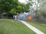 Fire breaks out Thursday at 315 Elmore in Lecompton.