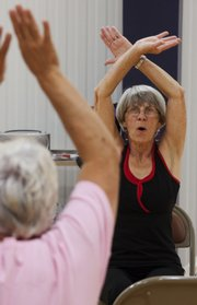 Caryn Scott leads the exercise group at Immanuel Lutheran Church, combining faith and fitness for holistic health.