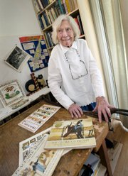 Alice Provensen, 91, shown at her daughter's home in San Clemente, Calif., teamed with her husband for nearly four decades to produce children's books.
