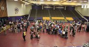 About 4,000 doses of the H1N1 vaccine were on hand Wednesday at Coffin Sports Complex at Haskell University.