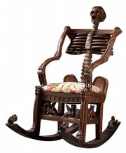 A rocking chair shaped like a skeleton is bound to be noticed, especially around Halloween. This 20th-century example brought $3,198 at Jackson's Auctioneers in Cedar Falls, Iowa, this past June.
