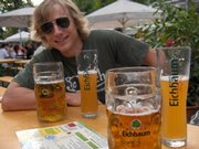 Bernhard Minke, now a Kansas University graduate student, celebrates Oktoberfest during his freshman year at the University of Stuttgart.