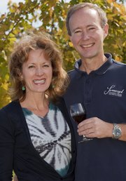 Founders Cindy and Dennis Reynolds of the Somerset Ridge Vineyard and Winery in Miami County are also Kansas University alumni.
