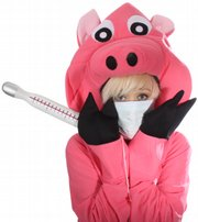 """Kacie Brown as """"Swine Flu."""""""