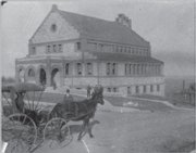 "A horse and buggy passes by Spooner Hall in the 1890s. The image is among those in a new book, ""Spooner Hall,"" published by the University Press of Kansas and the Historic Mount Oread Friends. It is available at bookstores and online at www.kansaspress.ku.edu."