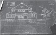 Blueprints for the Library Building — now known as Spooner Hall — as they were drawn by architects Van Brunt and Howe. The original blueprints were restored and now are in the Kansas University archives.