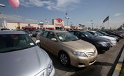 Toyota vehicles are displayed Wednesday at the D. Longo Toyota dealership in El Monte, Calif. The Cash for Clunkers program was very good for D. Longo, a large Toyota dealer just east of Los Angeles, but its environmental effects have come under scrutiny from a recent AP analysis.