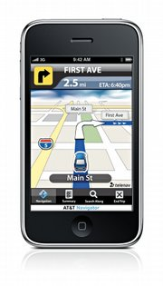 Consumer Reports found that the AT&T Navigator GPS app (version 1.2i.5) offers simple interface and clean presentation.