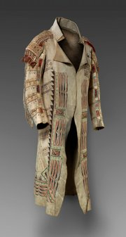 A rare 18th-century Ojibwa coat made of buffalo skin will be among Native pieces on display starting Saturday at Nelson-Atkins Museum of Art, Kansas City, Mo.