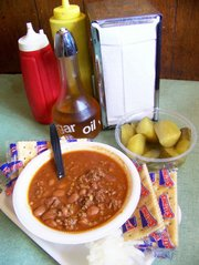 A bowl of Porubsky's chili is among the Topeka restaurant's signature dishes.