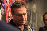 KU coach Bill Self addresses the media Thursday, Nov. 12.