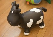 Howdy the Bouncy Cow by Trumpette at Blue Dandelion.