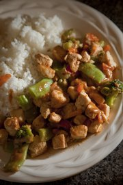 Saucy Stir-fry with Awesome Sauce.