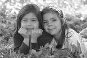 Their mother says Heather (left) and Katherine Wombwell, age 6, share a psychic connection that's difficult to explain.