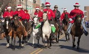 The High Plains Paso Fino Horse Association from Leavenworth kept a fast pace during the 17th annual Lawrence Old-Fashioned Christmas Parade Saturday, Dec. 5.