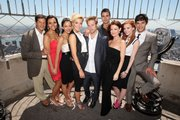 "The cast of the new ""Melrose Place,"" which launched this fall on The CW, has grown smaller as regulars like Colin Egglesfield (fourth from right) and Ashlee Simpson-Wentz (second from right) were cut amid sluggish ratings."