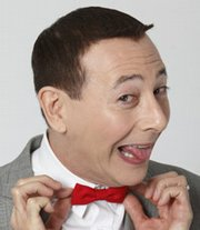 "Actor Paul Reubens, portraying Pee-wee Herman, poses while promoting ""The Pee-wee Herman Show"" live stage play in Los Angeles."
