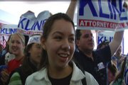 Brittany Barden campaigns to re-elect former attorney general Phill Kline.