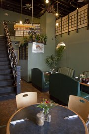 Tenth Street Vegetarian Bistro, 125 E. 10th St., features dining area seating on two floors.