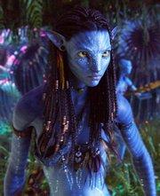 "Zoe Saldana stars in James Cameron&squot;s 3D adventure ""Avatar."""