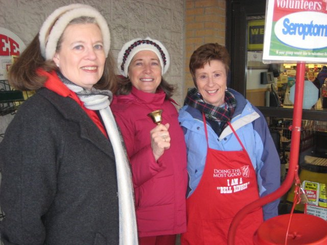 Photo: Volunteering as bellringers for the Salvation Army ...