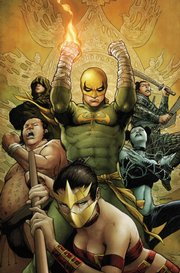 The comic book world of Iron Fist is depicted here in an image provided by comic book giant Marvel Entertainment Inc. The Walt Disney Co. will complete its $4.3 billion purchase of Marvel on Thursday and will add a new lineup of superheroes to its empire of characters.