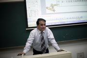 Economist Ilham Tohti, a Uighur from Xinjiang, a predominantly Muslim region in China's far west, speaks to students at Central Nationalities University in Beijing. Tohti has been put under house arrest dozens of times over the past decade for criticizing how China runs his homeland and treats his people.