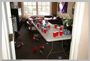 This photo, taken inside the Sigma Alpha Epsilon fraternity, was submitted as part of a lawsuit filed by the parents of Jason Wren, who died from alcohol poisoning in March 2009.