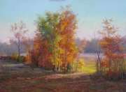 """Autumn Beauty"" by Jean Terry, on display at Signs of Life."