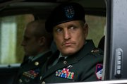 "Woody Harrelson, right, and Ben Foster star in ""The Messenger."""