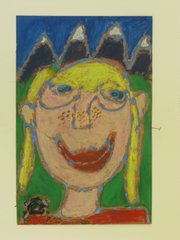 """Self-Portrait After Looking at Frida Kahlo,"" by Alexandria Bellavia, second-grader, Woodlawn School"