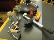 Here are some examples of novelty cigarette lighters that would be banned under Senate Bill 342, which was considered Thursday before a Senate committee. Nancy Niles Lusk of Overland Park purchased these lighters in filling stations and convenience stores in Kansas. Supporters of the bill say the lighters should not be for sale because they are attractive to young children who could misuse them.