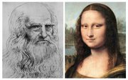 Italian scientists are seeking permission from French authorities to dig up Leonardo Da Vinci's body to conduct testing to determine whether the Mona Lisa, right, was actually a self-portrait, left, in disguise.