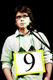 Stefan Petrovic, Broken Arrow School sixth-grader, places second at the spelling bee for fourth- through eighth-graders.